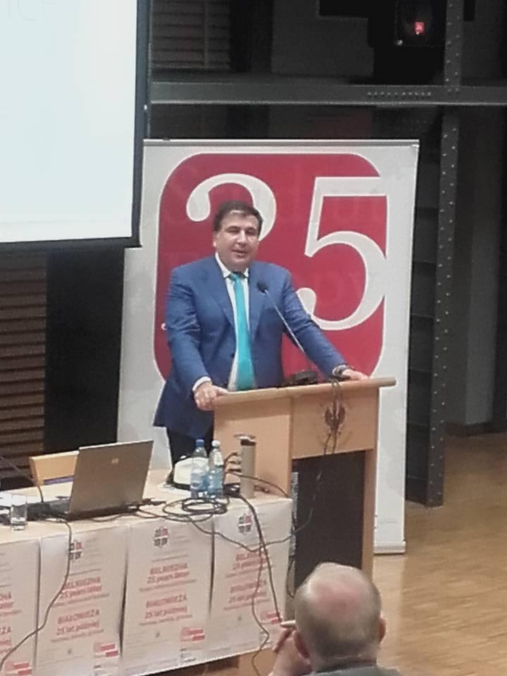 Saakashvili w Warszawie czyli Balcerowicz contrapostkomunizm