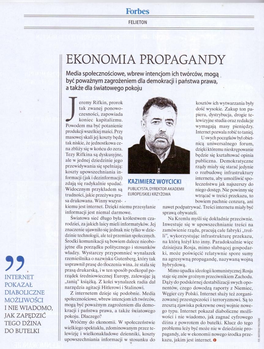 Ekonomia wojny propagandowej